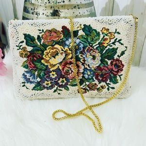Vintage La Regale Heavily Beaded Floral bag